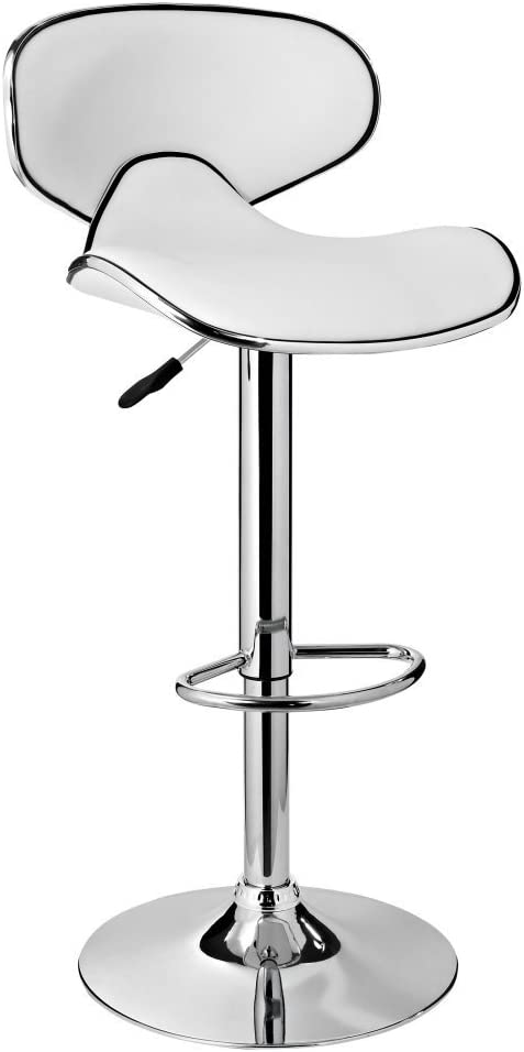 Powell Furniture Adjustable Barstool, White