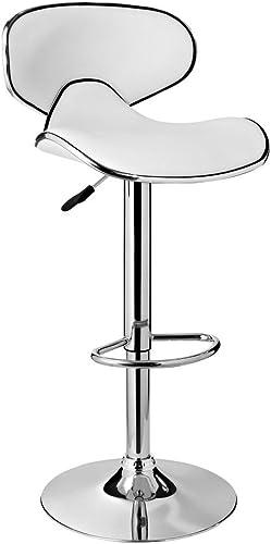 Powell Furniture Adjustable Barstool, White