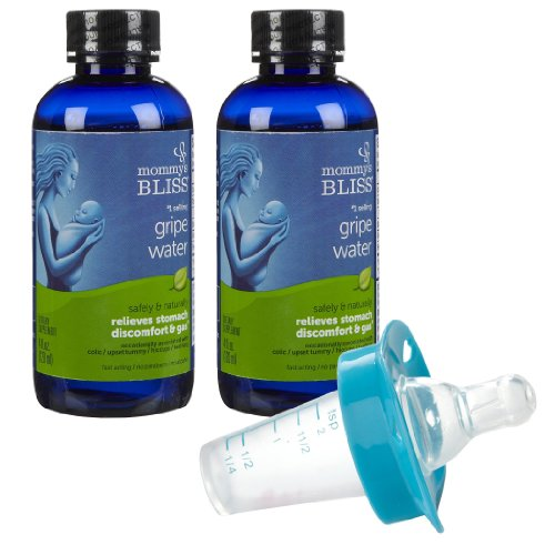 Mommy's Bliss Original Gripe Water (2-Pack) Plus Munchkin Medicator, Blue