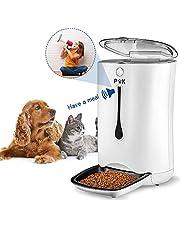 PUPPY KITTY Mangiatoia Automatica per Cani e Gatti, mangiatoia Automatica con Timer/Registrazione del Tono Fino a 8 Secondi/Display LCD, Batteria e Alimentatore di Rete collegabile