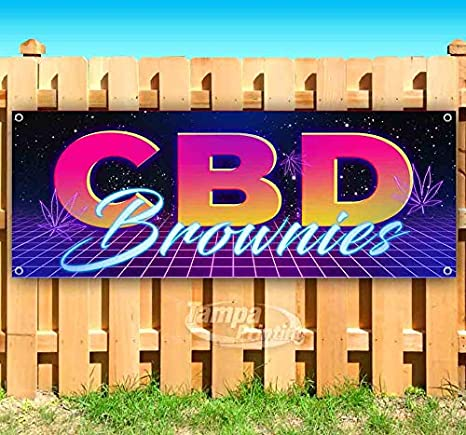 Amazon.com: CBD Brownies - Cartel de vinilo resistente con ...