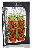 (36) Mr. Stacky Individual Stacking Vertical Gardening Planter Pots - Custom Build Your Own Hydroponics, Aquapoincs, Or Soil Growing System - Grow Vegetables, Herbs Strawberries Peppers Lettuce