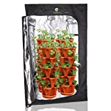 (36) Mr. Stacky Individual Stacking Vertical Gardening Planter Pots   Custom Build Your Own Hydroponics, Aquapoincs, Or Soil Growing System   Grow Vegetables, Herbs Strawberries Peppers Lettuce by Mr. Stacky