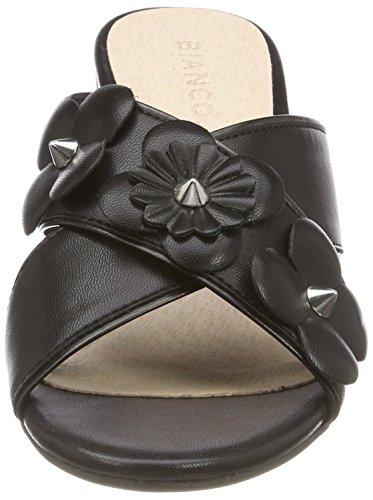 Donna Flower 10 BIANCO Black Sabot Nero Cross Sandal 8wIqwdBn7H