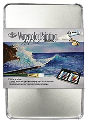 Royal & Langnickel Medium Tin Watercolor Painting Art Set