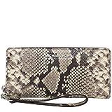 Michael Kors Wallet Wristlet Zip Around Embossed Leather Python Snake Print MK Logo