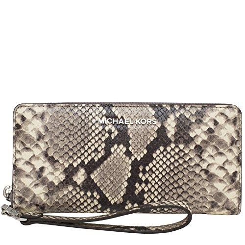 Michael Kors Wallet Wristlet Zip Around Embossed Leather Python Snake Print MK Logo by MICHAEL Michael Kors