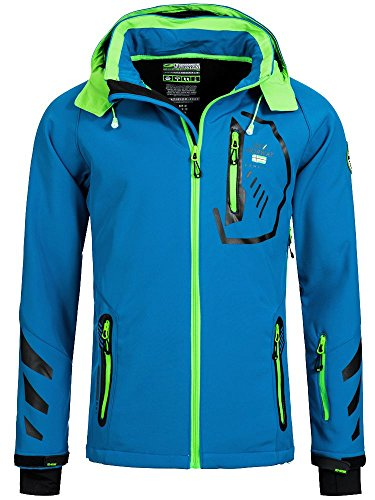 GEOGRAPHICAL NORWAY Homme Veste Softshell terouma AMOVIBLE CAPUCHE