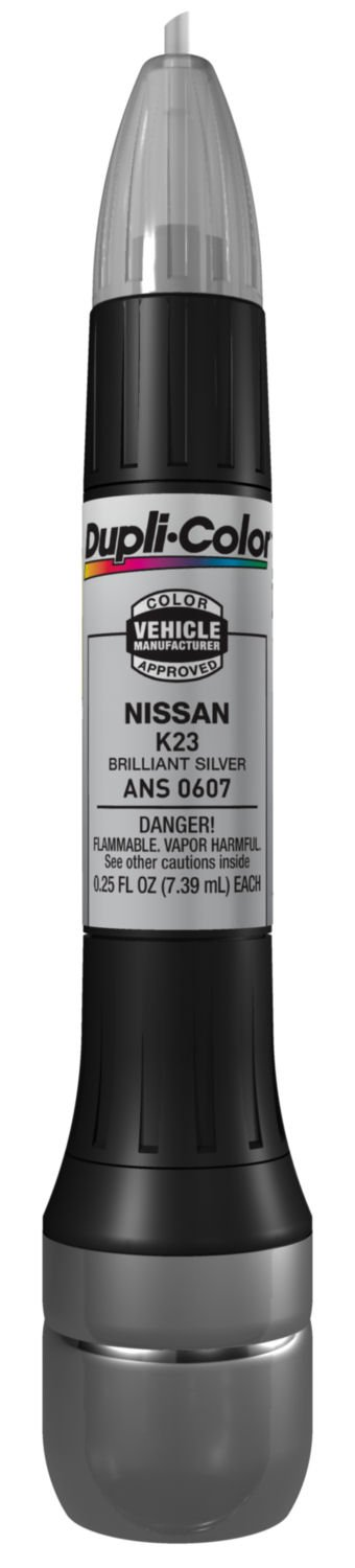 Dupli-Color ANS0607 Brilliant Silver Nissan Exact-Match Scratch Fix All-in-1 Touch-Up Paint - 0.5 oz (0.25 oz. paint color and 0.25 oz. of clear)