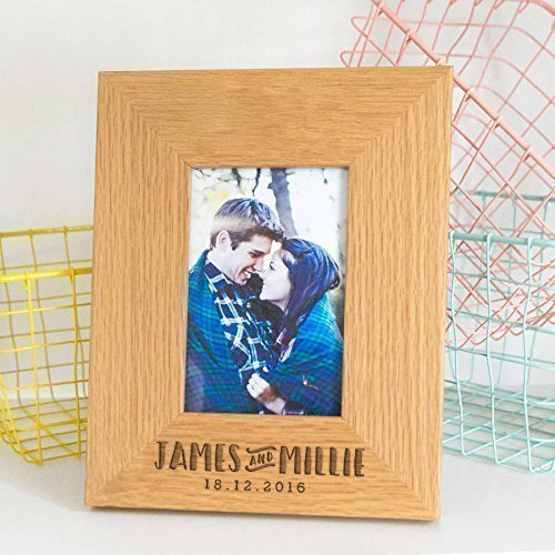 Personalized Picture Frame/Wedding Anniversary Picture Frame/Personalized Engagement Photo Frame/Personalized Gifts For Couples