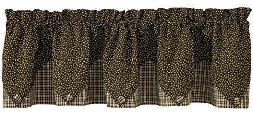 Park Designs Cider Mill Lined Point Valance, 72 x 15