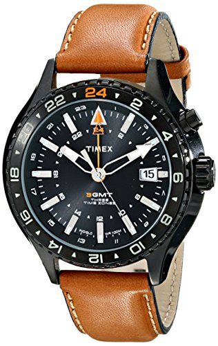 - Timex Men's T2P427DH Intelligent Quartz Stainless Steel Watch with Brown Leather Band