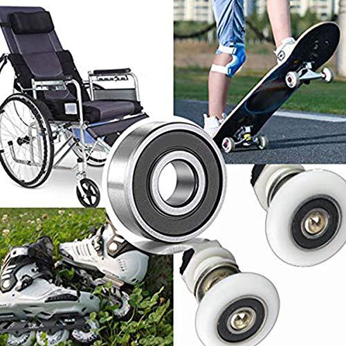 SODIAL 20 Cuscinetti A Sfera 608-2rs Cuscinetti A Sfere A Gola Profonda Miniaturizzati con Guarnizione in Gomma Doppia per Skateboard 8 Mm X 22 Mm X 7 Mm Pattini in Linea Scooter
