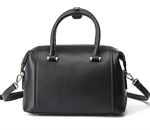 La mujer Xinmaoyuan bolsos de cuero Bolsos Bolso almohada hombro paquete diagonal Negro