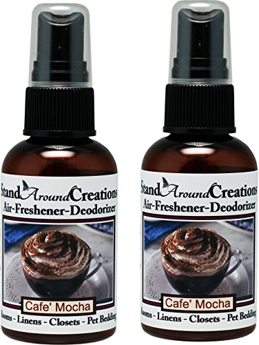 Set of 2 - Concentrated Spray For Room/Linen/Room Deodorizer/Air Freshener - 2 fl oz - Scent: Cafe Mocha- Fresh brewed coffee, chocolate syrup, creamy vanilla w/marshmallows.