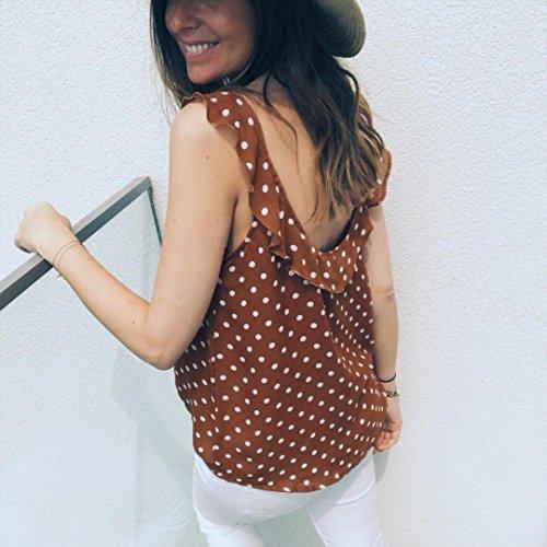 Maniche Arancione Estiva Donna Bluestercool Senza T Blusa shirt Casaul Magliette f70xCq