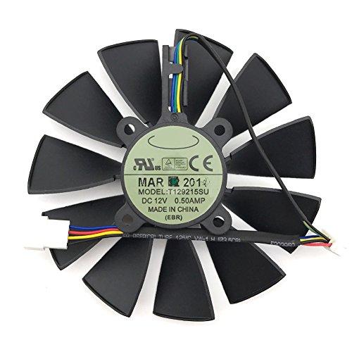 T129215SU DC 12V 0.5A VGA Card Cooling Fan For Graphics Card ASUS GTX780 GTX780TI R9 280 290 R9 280X 290X (1pcs A) by Z.N.Z
