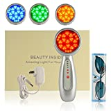 YokPollar Photon Light Therapy, 4 Interchangeable heads, skin rejuvenation, lightens dark spots, promotes collagen and reduce wrinkles and fine lines aging-resistant (Red,Blue,Green, Yellow Light)