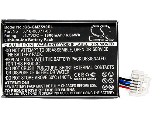 GPS Battery for Garmin Zumo 590 590LM 595 010-12110-003 361-00077-10 616-00077-00 616-00077-10 by Cameron Sino