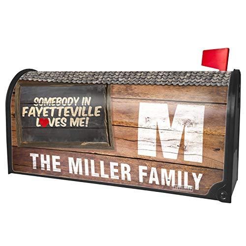 NEONBLOND Custom Mailbox Cover Somebody in Fayetteville Loves me, Arkansas]()