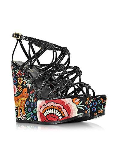 Cuir Chaussures Cavalli EQS417PA0036D0141 Femme Compensées Multicolore Roberto dxIq1nCC