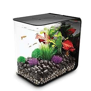 biOrb FLOW 30 Aquarium with LED Light – 8 Gallon, Black