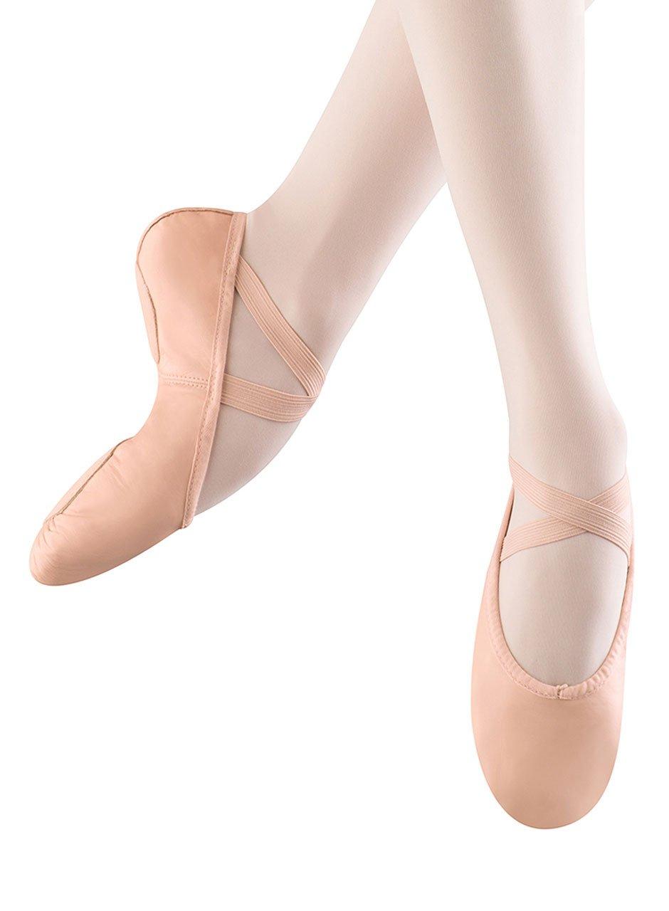 Bloch Dance Women's Prolite II Leather Ballet Slipper, Pink, 4 D US