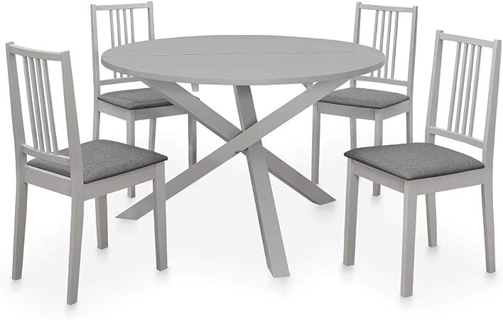 Tidyard Mobilier De Cuisine 5 Pcs Table Et Chaises Mobilier A