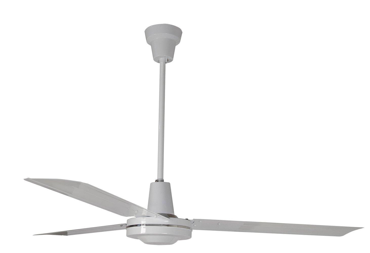 Leading Edge 60001 60-Inch Heavy Duty High Performance Ceiling Fan, 46000 CFM, White