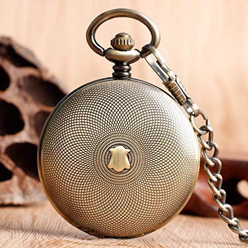 ZJZ Vintage fickur mekanisk vintage fickur herr dam handlindande brons mode hänge gåvor