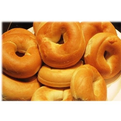 Burry Foodservice Thaw and Sell Sliced Plain Bagel, 1 Ounce - 168 per case.