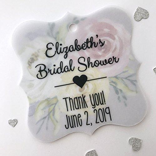(Bridal Shower Transparent Vellum and Printed Background Favor Tags (FS-006-T008-V))