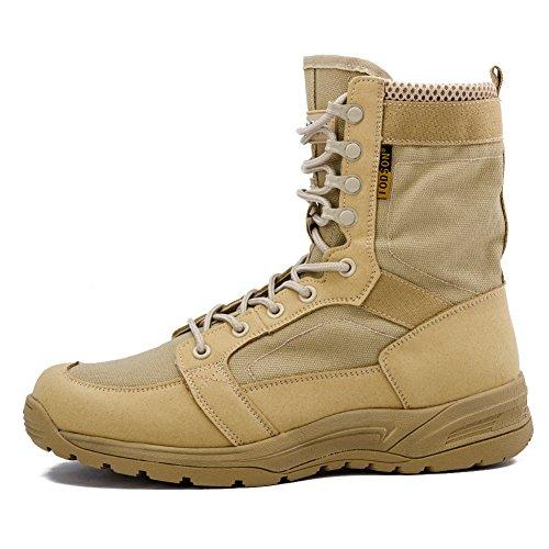 IODSON US Mens' Ultra-Light Combat Boots Military Tactical Work Boots Desert Boots IDS-852