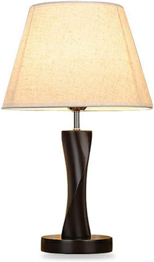 MLSH Lámpara de mesa de madera maciza Lámpara de escritorio ...