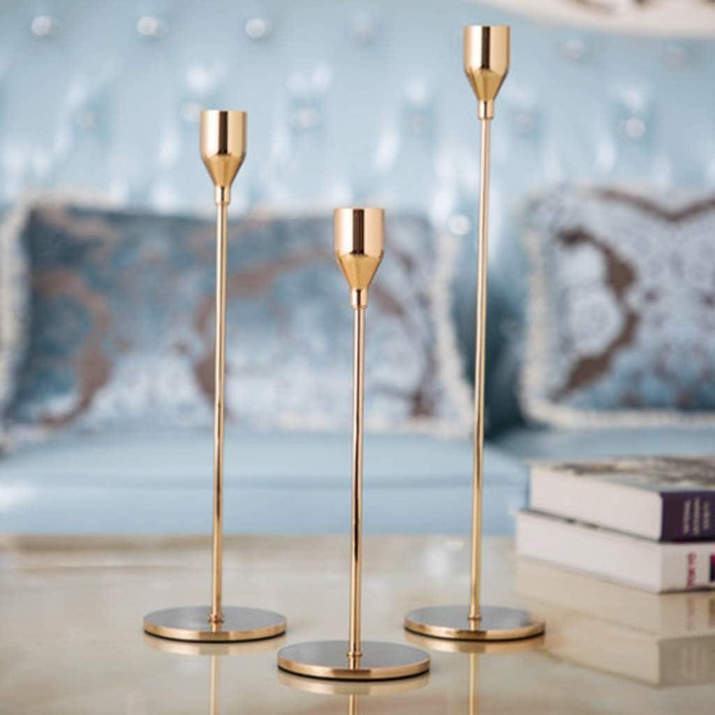 Yajiun Bougeoir Decoration Table,Bougeoir El/égant Design Simple Mariage D/écoration Clubs Parties Accueil Ornement
