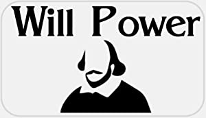 Will Power - 50 Stickers Pack 2.25 x 1.25 inches - William Shakespeare