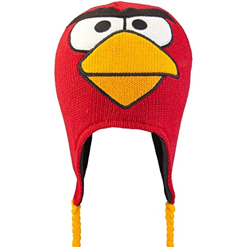 Big Bird Hat (Angry Birds - Red Bird Big Face Peruvian Knit Hat)