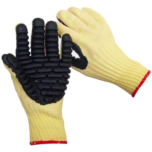 Anti Vibration Air Glove - Impacto VI4741 Blade Anti-Vibration Anti Slash Glove, Yellow