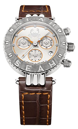 Seah-Galaxy-Zodiac-sign-Cancer-Limited-Edition-38mm-Silver-Tone-Swiss-Made-Luxury-watch
