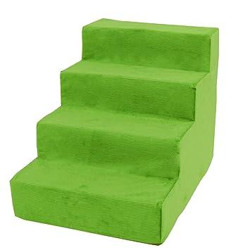 QZ Escaleras de Mascotas Suaves Pasos para Perros pequeños para Camas Altas Perros de sofá Rampas 4 Pasos, Verde, 38 × 54 × 40 cm: Amazon.es: Productos para ...