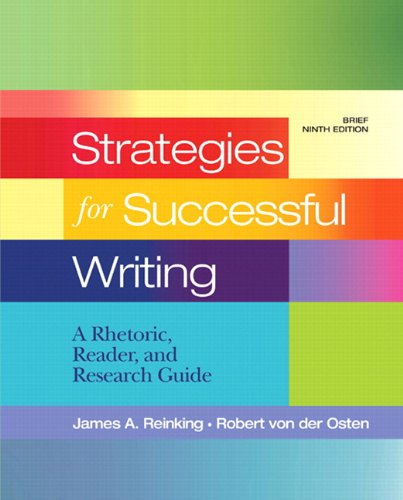 Strategies for Successful Writing: A Rhetoric, Reader and Research Guide with NEW MyCompLab -- Access Card Package (9th