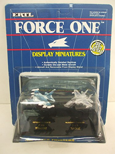 - Ertl Force One Display Miniatures - Air Force Fighters F-16 Falcon & F-15 Eagle