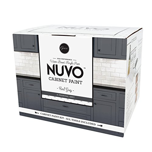 Nuvo Earl Grey All-in-One Cabinet Makeover Kit, Charcoal Grey (Cabinet Paint)