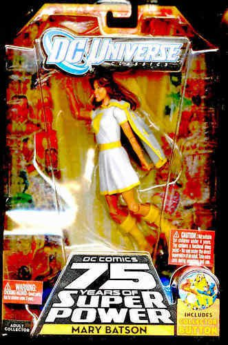 MARY BATSON action figure w/ White outfit, MIP, w/ button, 75 yrs of Super Power -