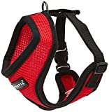 Authentic Puppia Soft Dog Harness, Red - Medium