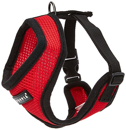 Authentic Puppia Soft Dog Harness, Red - ()