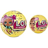 L.O.L. Surprise! Confetti Pop-Series 3-Wave 1 Unwrapping Toy Bundle with L.O.L. Surprise! Lil Sister Series 3 Unwrapping Toy