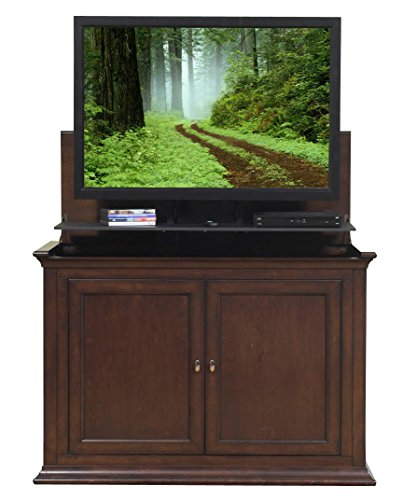(Touchstone 73008 - Harrison TV Lift Cabinet (Espresso) - Up to 50 Inch TVs Diagonal (47 In Wide) - Transitional Style Motorized TV Cabinet - Pop Up TV Cabinet With Memory Feature, IR/RF, 12V Trigger)