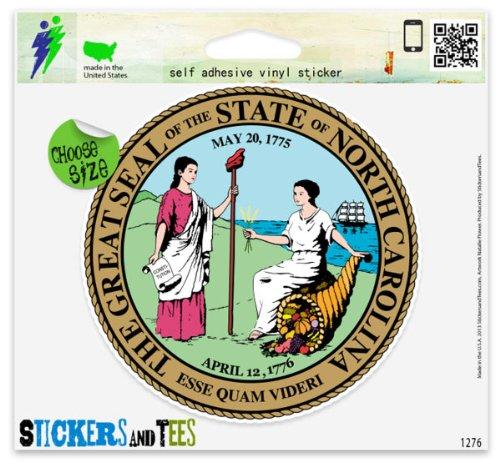 North Carolina State Seal Vinyl Car Bumper Window Sticker 4