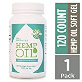 Manitoba Harvest Hemp Oil Softgels, 1000mg, 10g Omega 3&6 per serving, 120 Count (Pack of 1) - Zero CBD